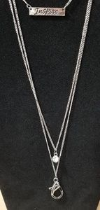 Silver Inspire Lanyard Necklace